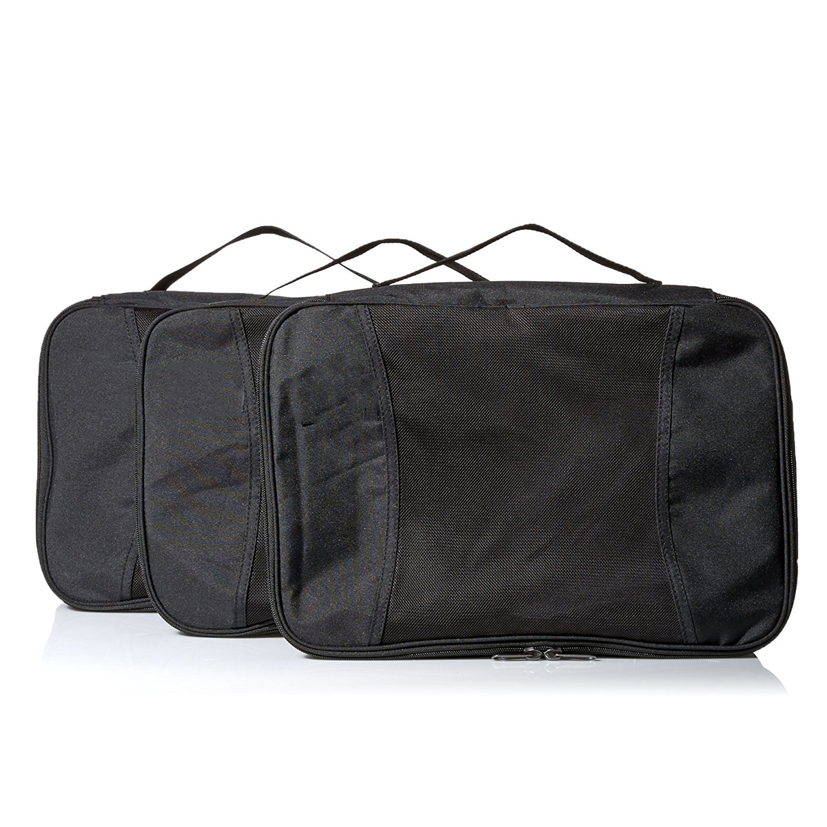 100% RPET 300D black packing cube for travelling